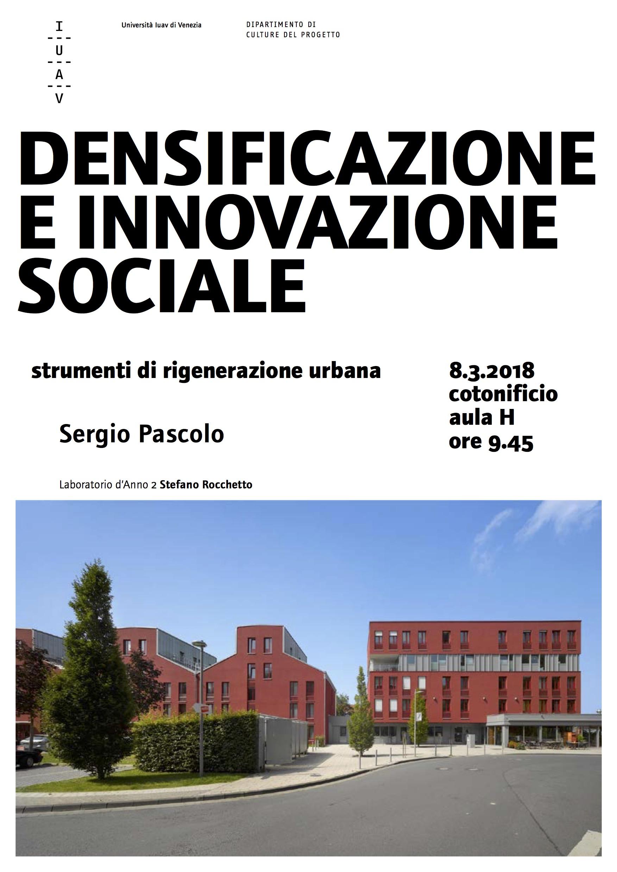 SERGIO PASCOLO_densificazione e innovazione sociale_Iuav